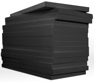 ✔Купить пенопласт для сип панелей • EPS BLACK PLAST® Graphite