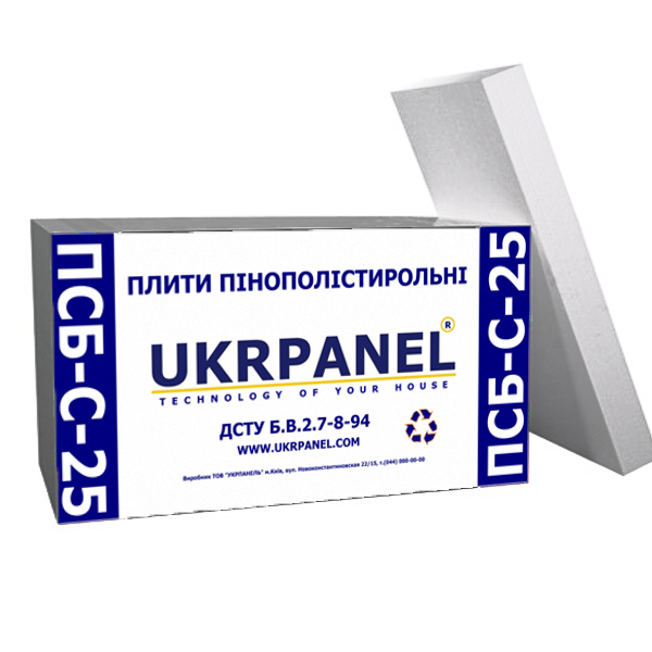 Купить пенопласт в Чернигове. Пенопласт ПСБ-С-25
