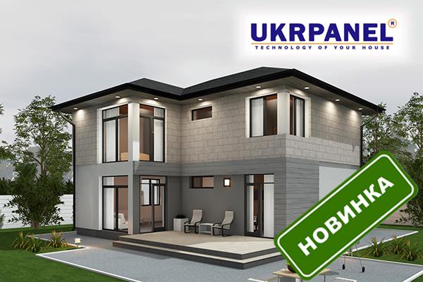 Двухэтажный дом из сип панелей. Проект СИП ДОМ #105 UKRPANEL