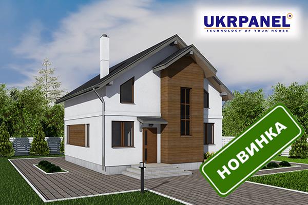 Двухэтажный дом из сип панелей. Проект СИП ДОМ #46 UKRPANEL