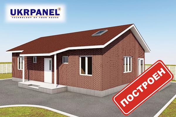 Одноэтажный дом из сип панелей. Эскизный проект СИП ДОМ #78