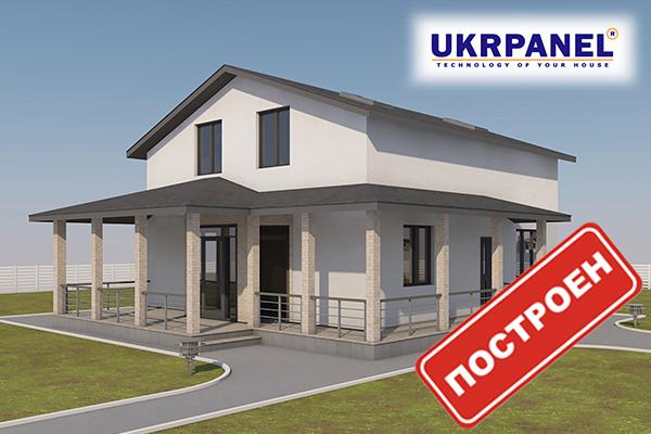 Двухэтажный дом из сип панелей. Проект СИП ДОМ #81UKRPANEL