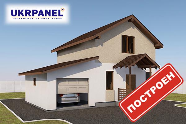 Каркасный дом из сип панелей. Эскизный проект СИП ДОМ #83