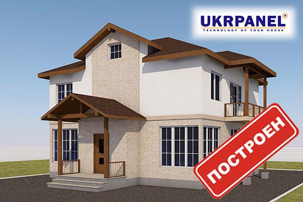 Двухэтажный дом из сип панелей. Проект СИП ДОМ #86 UKRPANEL