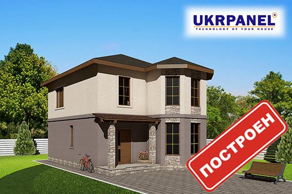 Двухэтажный дом из сип панелей. Эскизный проект СИП ДОМ #90