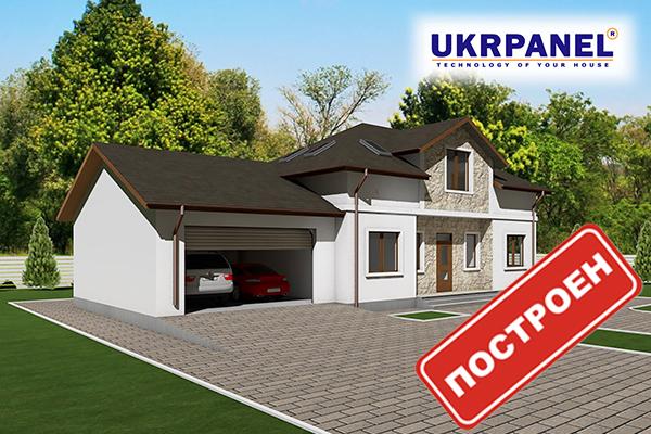 Двухэтажный дом из сип панелей. Проект СИП ДОМ #91 UKRPANEL