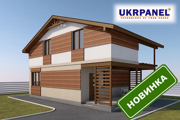 Двухэтажный дом из сип панелей. Проект СИП ДОМ #92 UKRPANEL