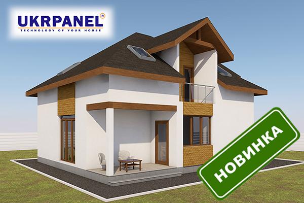 Двухэтажный дом из сип панелей. Проект СИП ДОМ #93 UKRPANEL