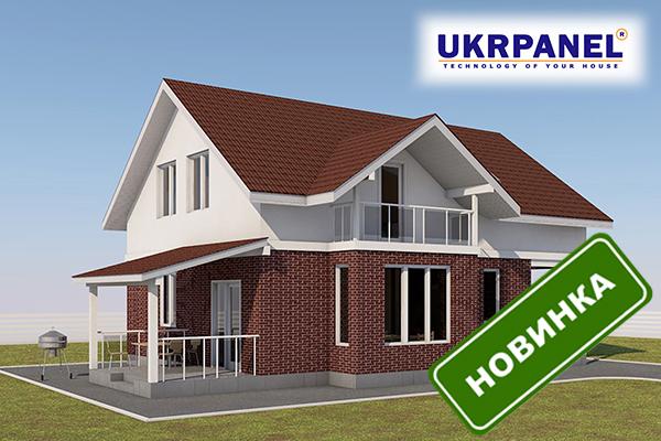 Двухэтажный каркасный дом из сип панелей. Проект СИП ДОМ #99 UKRPANEL