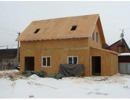 Дом из сип панелей. Зимнее строительство