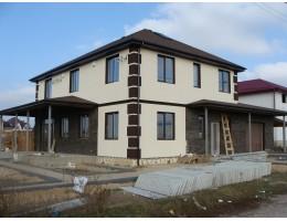 Пассивный дом из сип панелей. Фасад.