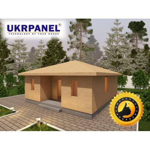 Домокомплект дачного дома из сип панелей. Общая площадь:54,22м.кв. UKRPANEL