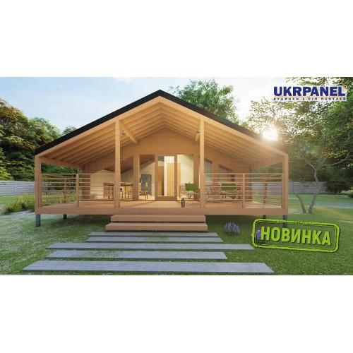 Дом из сип панелей. Проект СИП ДОМ #152 UKRPANEL