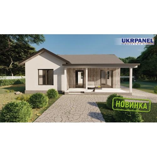 Дом из сип панелей. Проект СИП ДОМ #153 UKRPANEL