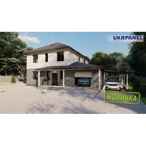Дом из сип панелей. Проект СИП ДОМ #154 UKRPANEL