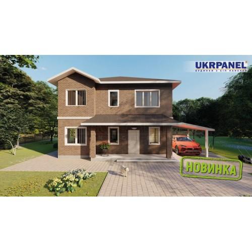 Дом из сип панелей. Проект СИП ДОМ #155 UKRPANEL