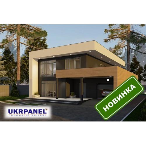 Пассивный дом из сип панелей. Проект СИП ДОМ #44