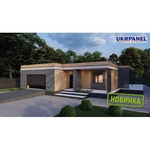 Дом из сип панелей. Проект СИП ДОМ #150 UKRPANEL