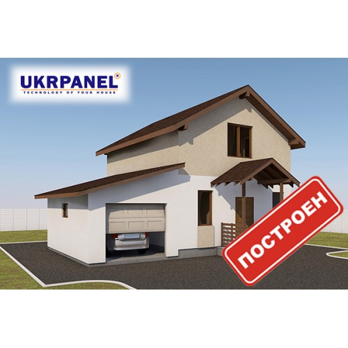 Дом из сип панелей. Проект СИП ДОМ #104