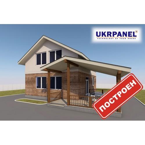 Двухэтажный дом из сип панелей. Проект СИП ДОМ #82 UKRPANEL