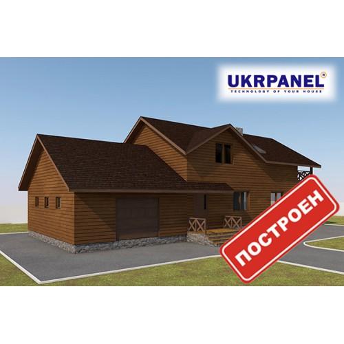 Двухэтажный дом из сип панелей. Проект СИП ДОМ #85 UKRPANEL