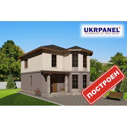 Двухэтажный дом из сип панелей. Проект СИП ДОМ #90 UKRPANEL