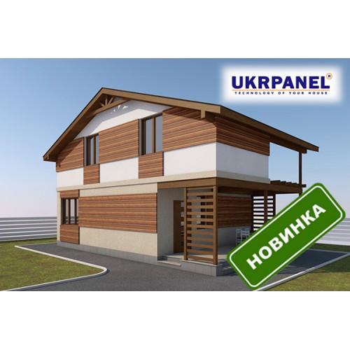 Двухэтажный дом из сип панелей. Проект СИП ДОМ #92