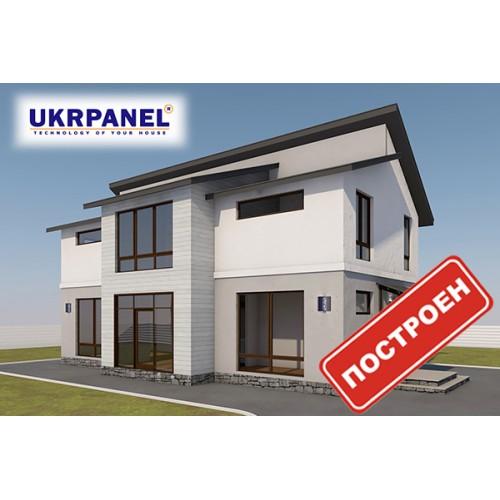 Двухэтажный дом из сип панелей. Проект СИП ДОМ #94