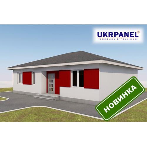 Одноэтажный дом из сип панелей. Проект СИП ДОМ #96