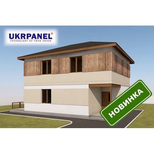 Двухэтажный дом из сип панелей. Проект СИП ДОМ #98 UKRPANEL